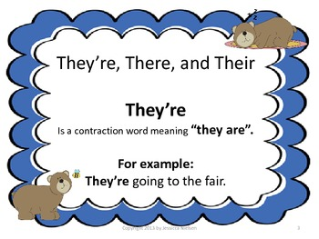 The They're, There, and Their Bears