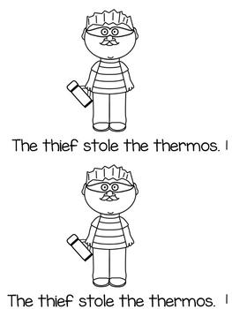 Digraph th - mini book - The Thief