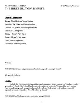 The Thieving Billy Goats Gruff! -a short play-