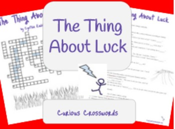 """The Thing About Luck"" by Cynthia Kadohata Worksheet - Crossword"