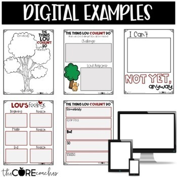 The Thing Lou Couldn't Do Interactive Read-Aloud Lesson Plans Activities 1-2