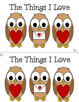 The Things I Love (Valentine's Booklet)