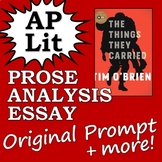 AP Literature Prose Essay Passage (+Bonus Materials) - The Things They Carried