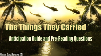 The Things They Carried Anticipation Guide and Pre-Reading