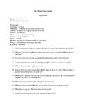 The Things They Carried Chapter 1-22 Reading Questions