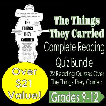 The Things They Carried: Complete Reading Quiz Bundle (CH. 1-22)