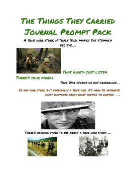 The Things They Carried Journal Prompt Pack I