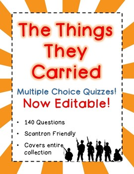 The Things They Carried Tests - Multi-Choice Quizzes - 140 Questions Every Story