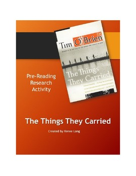 Pre-Reading for Tim O'Brien's The Things They Carried