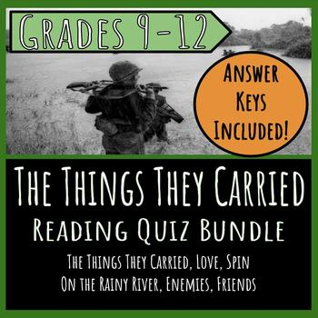 The Things They Carried Reading Quiz Bundle: Vol. I