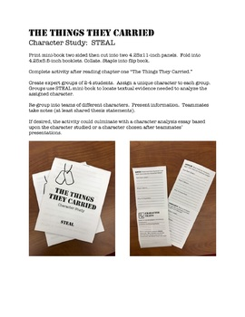 The Things They Carried: STEAL Character Analysis