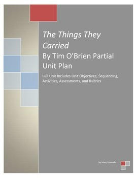 The Things They Carried Sample Unit Plan