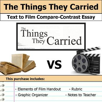 The Things They Carried - Text to Film Essay Bundle