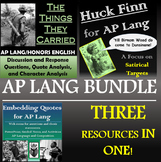 The Things They Carried, Huck Finn, and Embedding Quotes for AP Lang - Bundle!