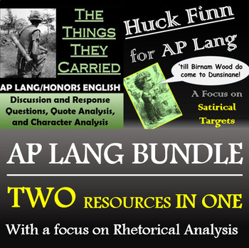 The Things They Carried and Huck Finn for AP Lang - Discounted Bundle!