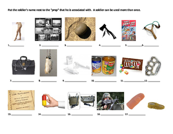 The Things They Carried: ch.1 Understanding characters through props