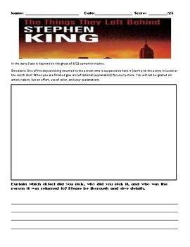The Things They Left Behind by Stephen King Assignment