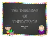 Third Day of Third Grade ~ Back to School Fun for 3rd Graders!