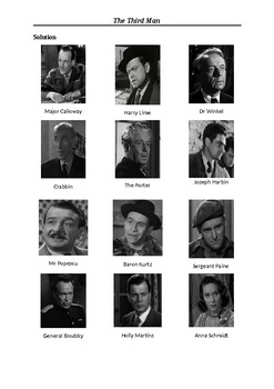 The Third Man - Character Matching Exercise