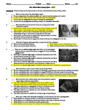 The Third Man Film (1949) 15-Question Multiple Choice Quiz