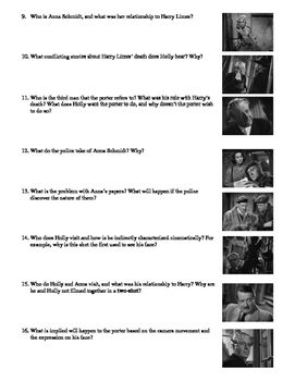 The Third Man Film (1949) Study Guide Movie Packet