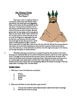 The Thirteen Clocks - Literary Text Test Prep