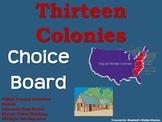 The Thirteen Colonies Colonial America Choice Board Social Studies Menu