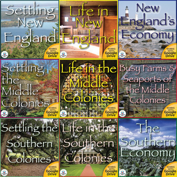 The Thirteen Colonies Interactive Notebook Mega Bundle