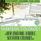 Thirteen Colonies - New England, Middle, and Southern Colonies