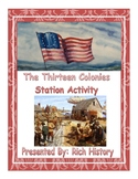 The Thirteen Colonies Stations Activity