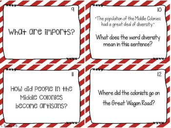 The Thirteen Colonies Task Cards