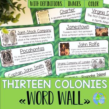 Thirteen Colonies Word Wall