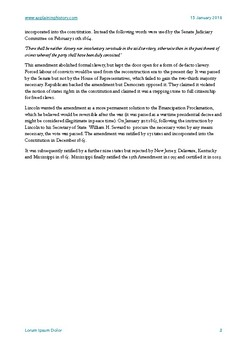 The Thirteenth Amendment Study Notes