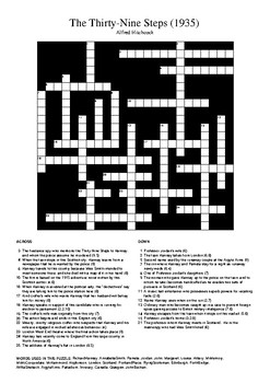 The Thirty-Nine Steps (1935) - Crossword Puzzle