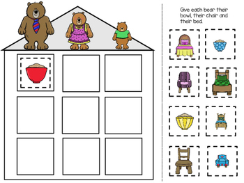 The Three Bears Adapted Book and Learning Activities