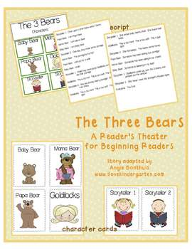 The Three Bears:  A Reader's Theater for Beginning Readers
