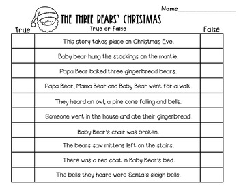 The Three Bears Christmas Book Companion