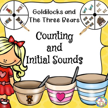 The Three Bears Clip It Counting 1-8 and Initial Sounds
