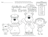 The Three Bears Color by Letter  A Common Core Activity