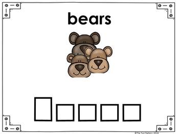 The Three Bears  Making  Words