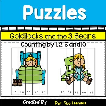 The Three Bears Puzzles Skip Counting by 2, 5 and 10