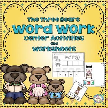 The Three Bears  Word Work Activities