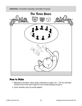 The Three Bears (comparative/descriptive language)