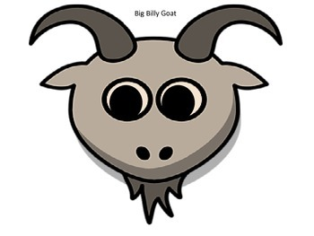 The Three Billy Goats Gruff Character Masks and Puppet Play Script