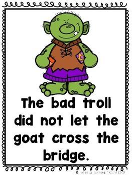 The Three Billy Goats Gruff (A Sight Word Emergent Reader and Teacher Lap Book)