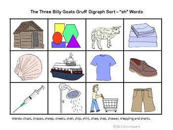 The Three Billy Goats Gruff Digraph Sort