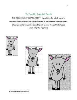 The Three Billy Goats Gruff:  Fine Arts Activities for Preschoolers