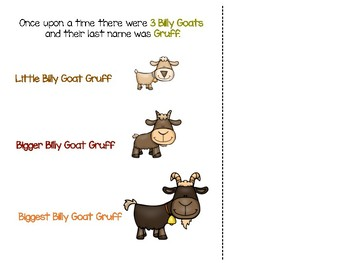 The Three Billy Goats Gruff ...Free Adapted Book