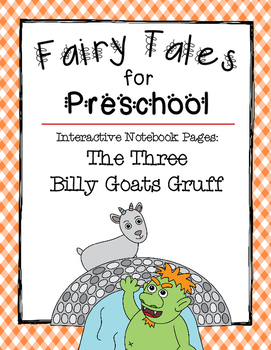 The Three Billy Goats Gruff {Interactive Notebook Pages for Preschoolers}