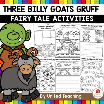 The Three Billy Goats Gruff No Prep Fairy Tale Activities